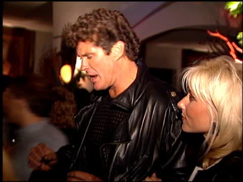 vidéos et rushes de david hasselhoff at the 'batman foreve'r premiere on june 9 1995 - 1995