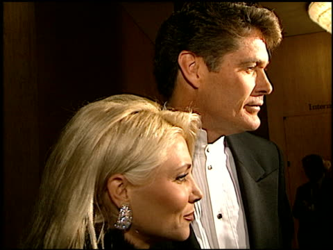 david hasselhoff at the carousel of hope gala at the beverly hilton in beverly hills, california on october 25, 1996. - david hasselhoff stock videos & royalty-free footage