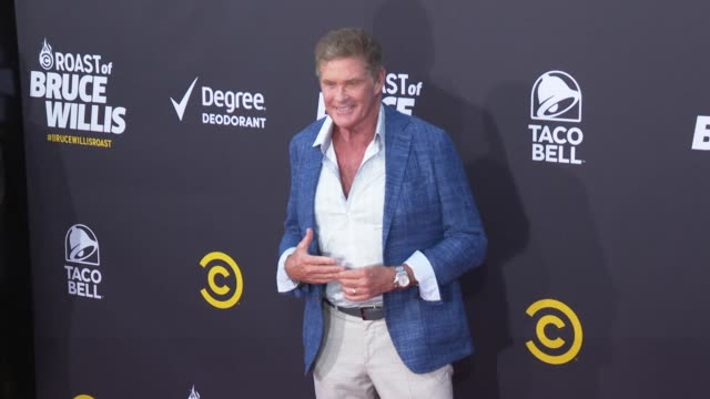 david hasselhoff at the comedy central roast of bruce willis at hollywood palladium on july 14, 2018 in los angeles, california. - david hasselhoff stock videos & royalty-free footage