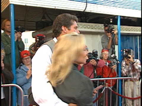 david hasselhoff at the dragonheart premiere at westwood in westwood, ca. - dragonheart stock videos & royalty-free footage