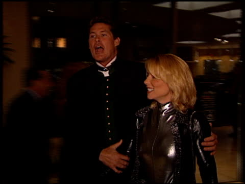 david hasselhoff at the evening of champions gala at the beverly hilton in beverly hills, california on december 3, 1998. - david hasselhoff stock videos & royalty-free footage