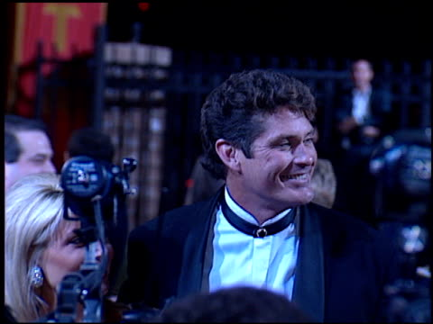 david hasselhoff at the 'evita' premiere at the shrine auditorium in los angeles, california on december 14, 1996. - david hasselhoff stock videos & royalty-free footage
