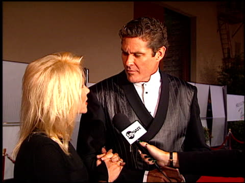 david hasselhoff at the fire and ice ball at warner brothers studios in burbank, california on october 17, 1996. - david hasselhoff stock videos & royalty-free footage