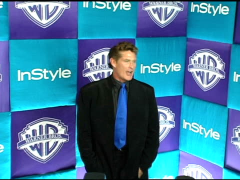david hasselhoff at the in style magazine and warner brothers studios 6th annual golden globe party at the beverly hilton in beverly hills,... - david hasselhoff stock videos & royalty-free footage