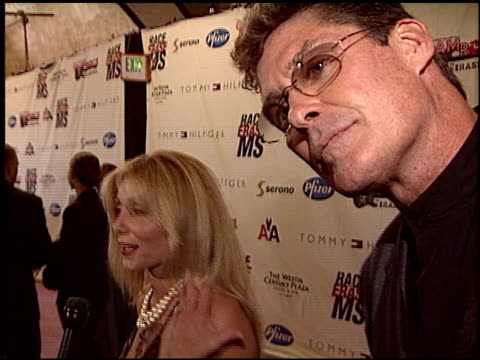 david hasselhoff at the race to erase at the century plaza hotel in century city, california on may 14, 2004. - david hasselhoff stock videos & royalty-free footage