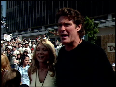 vídeos y material grabado en eventos de stock de david hasselhoff at the 'tarzan' premiere at the el capitan theatre in hollywood california on june 12 1999 - tarzán obra reconocida