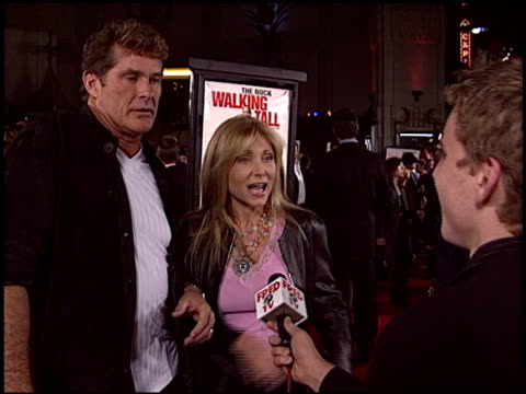 david hasselhoff at the 'walking tall' premiere at grauman's chinese theatre in hollywood, california on march 29, 2004. - david hasselhoff stock videos & royalty-free footage