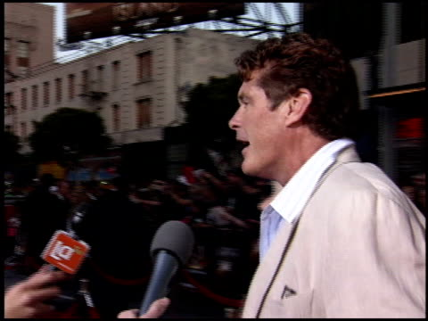 david hasselhoff at the 'war of the worlds' screening at grauman's chinese theatre in hollywood, california on june 27, 2005. - david hasselhoff stock videos & royalty-free footage