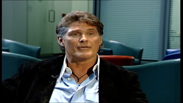 david hasselhoff launches autobiography and uk music single; england: london: gir: int david hasselhof interview sot - said hey there's our buddy / i... - david hasselhoff stock videos & royalty-free footage