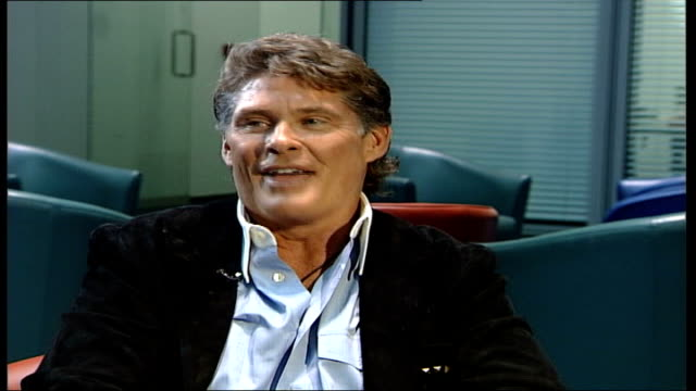 david hasselhoff launches autobiography and uk music single; england: london: gir: david hasselhof interview sot - this time instead of doing other... - david hasselhoff stock videos & royalty-free footage