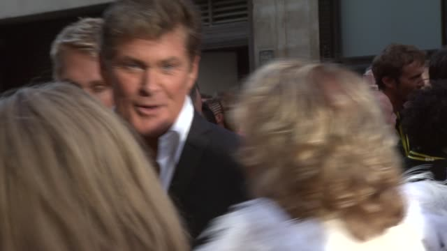 david hasselhoff, leigh francis aka keith lemon at keith lemon the film: uk premiere at odeon leicester square on august 20, 2012 in london, england - david hasselhoff stock videos & royalty-free footage