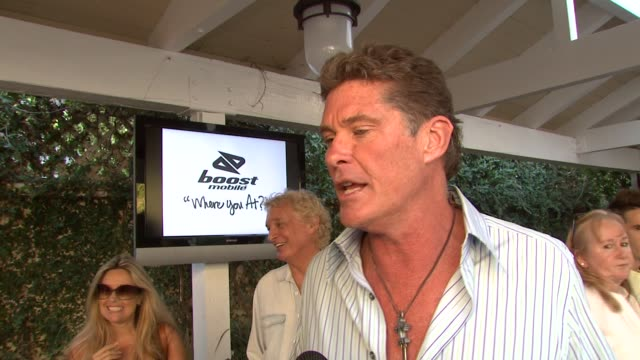 david hasselhoff on camp baywatch and doing the event for the foundation, on the photographers by his house, and on being in the ocean earlier in the... - david hasselhoff stock videos & royalty-free footage