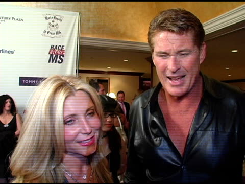 david hasselhoff on supporting the charity at the 12th annual race to erase themed rock and royalty to erase at the westin century plaza hotel in... - david hasselhoff stock videos & royalty-free footage