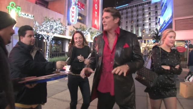 David Hasselhoff outside Nokia Live at the Celebrity Sightings in Los Angeles at Los Angeles CA