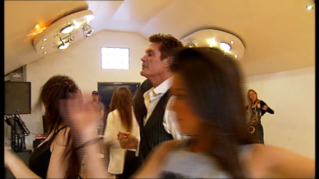 """david hasselhoff talks about new show; england: london: int entertainer david hasselhoff and others rehearsing for show """"an evening with david... - david hasselhoff stock videos & royalty-free footage"""