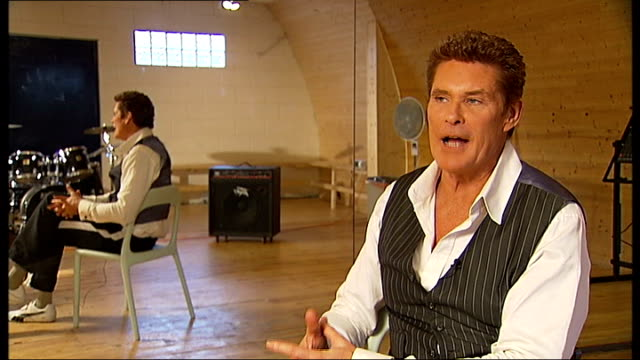 david hasselhoff talks about new show; hasselhoff interview sot - kind of like the hoff musical cutaway people rehearsing - david hasselhoff stock videos & royalty-free footage