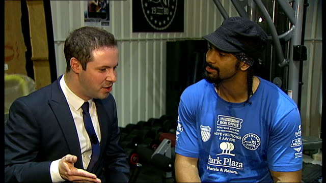 david haye announces retirement plans ahead of world title fight vauxhall int david haye interview continued sot know he's a focussed guy cardboard... - world title stock videos and b-roll footage