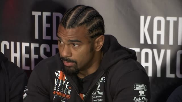 david haye interview after tony bellew defeat t02031715 / tx david haye press conference sot saturday night you are going to see a real destruction... - david haye stock videos and b-roll footage