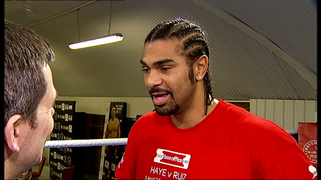 david haye interview continued sot - david haye stock videos and b-roll footage