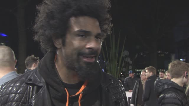 INTERVIEW David Haye on what the 'Rocky' films mean to him how they inspire him his up and coming fight at 'Creed' European Premiere on January 12...