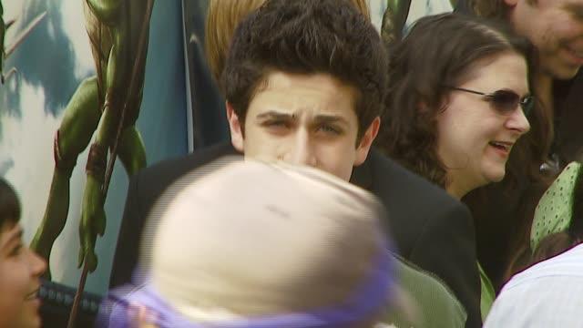 david henrie at the 'teenage mutant ninja turtles' world premiere at grauman's chinese theatre in hollywood, california on march 17, 2007. - teenage mutant ninja turtles stock videos & royalty-free footage