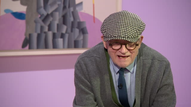david hockney saying 'beauty is all that in the end people can havepeople buy beauty'' - cubism stock videos & royalty-free footage