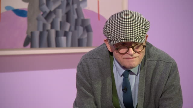 david hockney saying 'i am an optimist actuallyi have no reason to be deeply pessimistic' - cubism stock videos & royalty-free footage