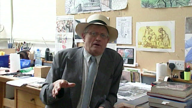 david hockney saying 'i don't expect the world to be totally suitable for me' - still life stock videos & royalty-free footage