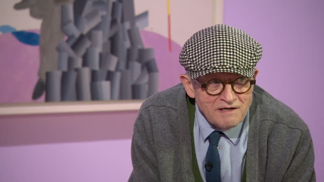 david hockney saying 'i don't tend to look back that much i tend to live in the now' - cubism stock videos & royalty-free footage