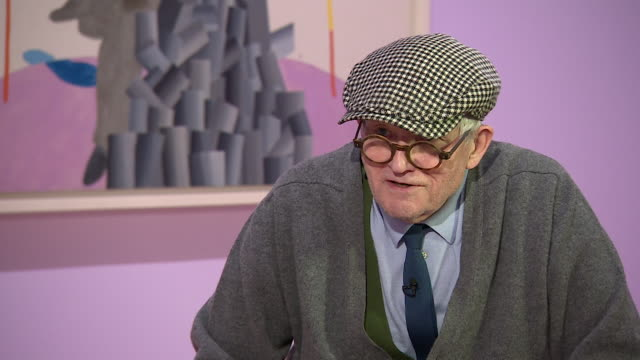 david hockney saying 'i have always had enough money to do what i wanted even when i didn't have much money' - cubism stock videos & royalty-free footage