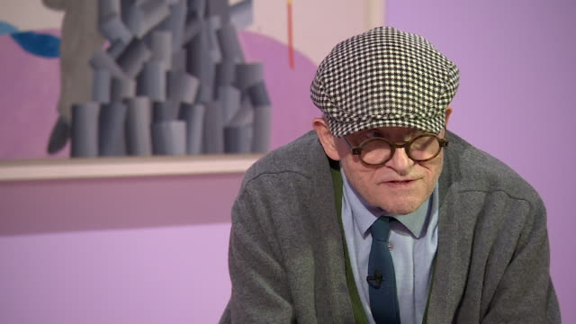 david hockney saying 'i have worked everydayi just work all the time' - cubism stock videos & royalty-free footage