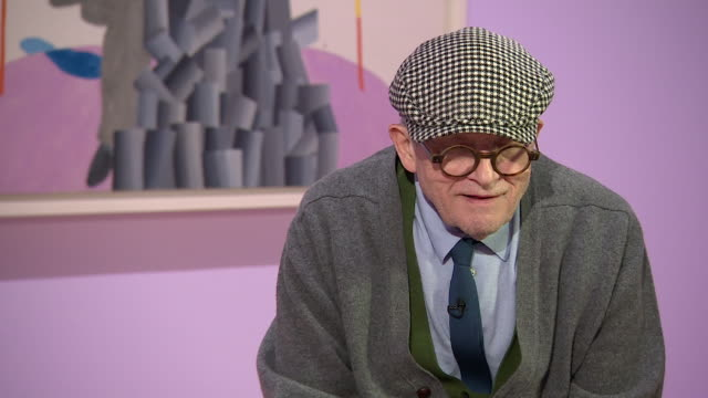 david hockney saying 'i think pictures should have an immediate impact' - cubism stock videos & royalty-free footage