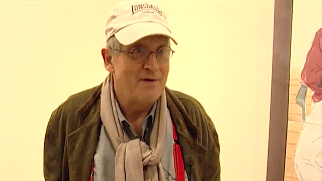 david hockney saying landscape painting is 'highly unfashionable' - still life stock videos & royalty-free footage