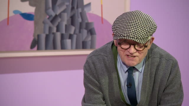 david hockney saying there is no formula for memorable pictures - cubism stock videos & royalty-free footage