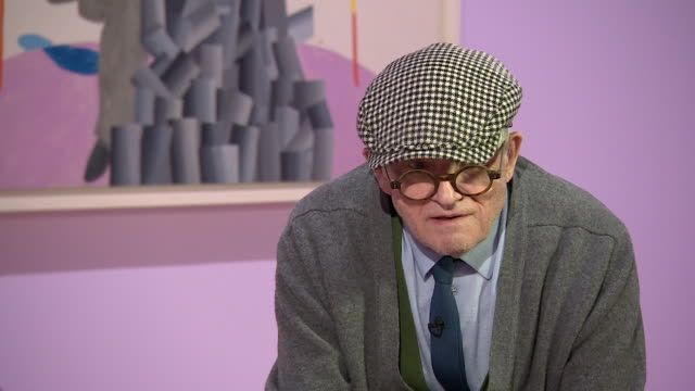david hockney saying 'there were times when i felt very very miserable' - cubism stock videos & royalty-free footage