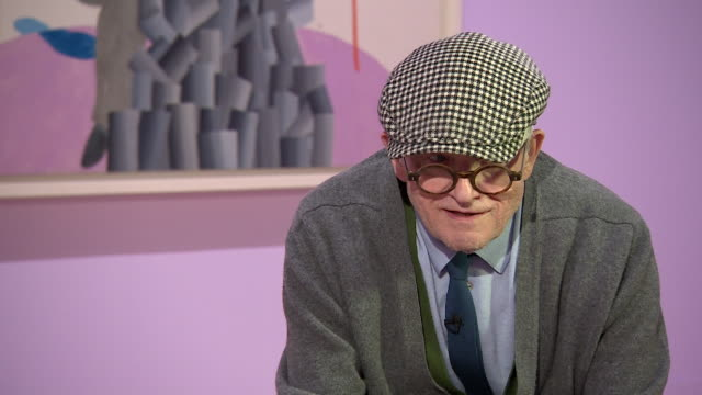 david hockney saying 'we only live this life and why not live it reasonably well' - cubism stock videos & royalty-free footage