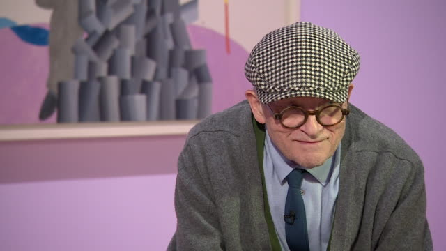 david hockney saying 'when i am painting i always think i am 30 i did then and i do now' - cubism stock videos & royalty-free footage