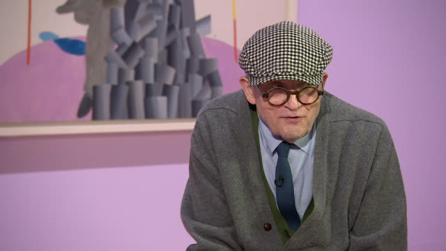 david hockney talks about art history saying 'if you paint you are interested in the history of painting' - cubism stock videos & royalty-free footage