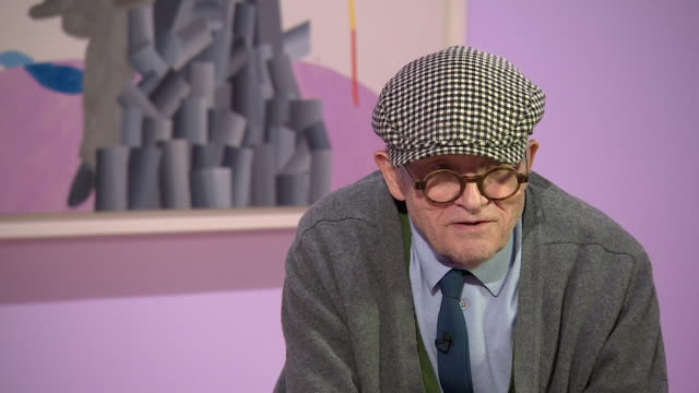 david hockney talks about his career saying 'it might look as though there are some high points and low points but i am not sure i would go along... - cubism stock videos & royalty-free footage
