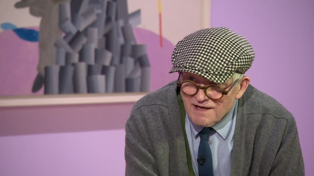 david hockney talks about painting landscapes saying 'the landscape isn't boring it's only our depiction of it that's boring' - cubism stock videos & royalty-free footage