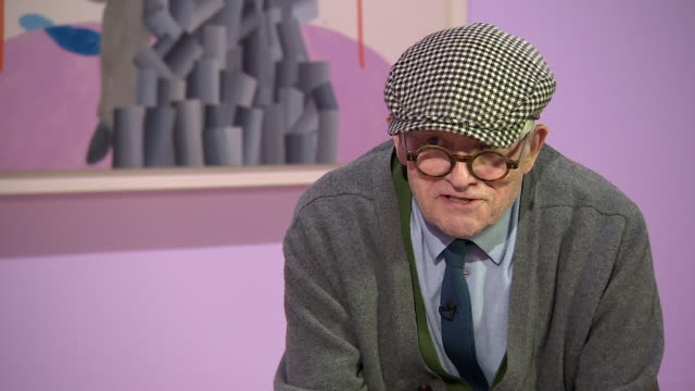 david hockney talks about perception of colour saying 'if you ask a question and look you see more' - cubism stock videos & royalty-free footage