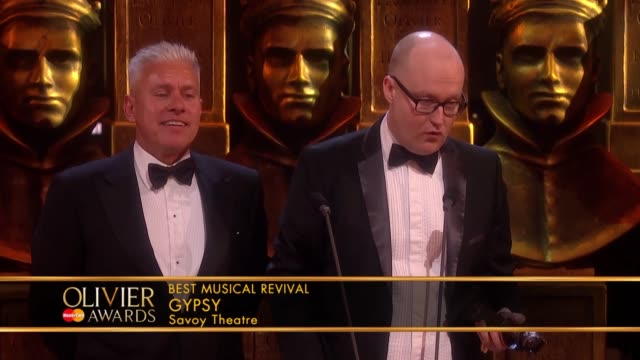 david ian, michael harrison, gypsy, best music revival at the olivier awards with mastercard at the royal opera house on april 04, 2016 in london,... - revival stock videos & royalty-free footage