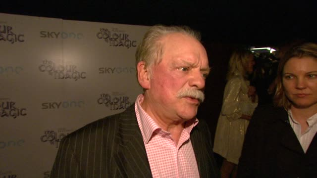 David Jason on his role as Executive Producer on The Colour of Magic and how it allowed him to make sure the film was made properly at the The Colour...
