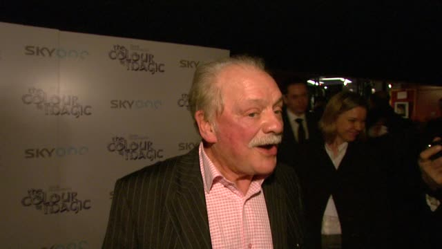 david jason on sean astin and how much he enjoys being unknown in the us at the the colour of magic premiere at curzon mayfair in london on march 3,... - sean astin stock videos & royalty-free footage