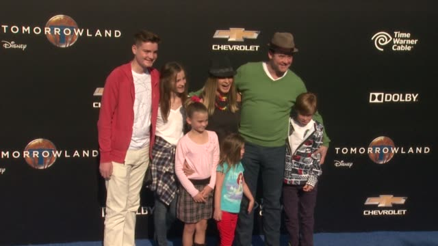 david koechner at the tomorrowland los angeles premiere at amc downtown disney 12 theater on may 09 2015 in anaheim california - anaheim california stock videos and b-roll footage