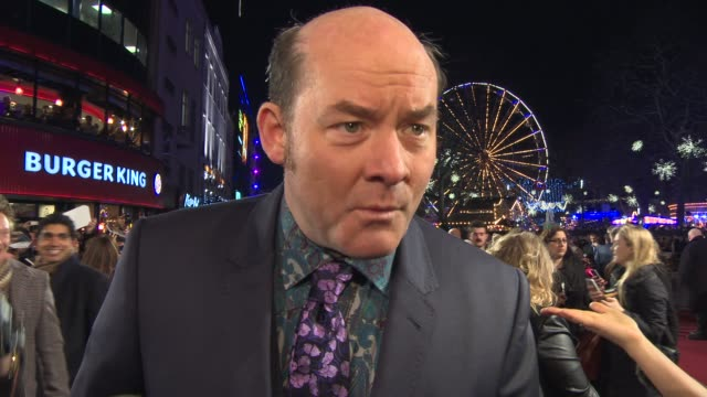 interview david koechner on the cult of 'anchorman' being on set the future of the franchise at 'anchorman 2 the legend continues' uk film premiere... - cult stock videos & royalty-free footage
