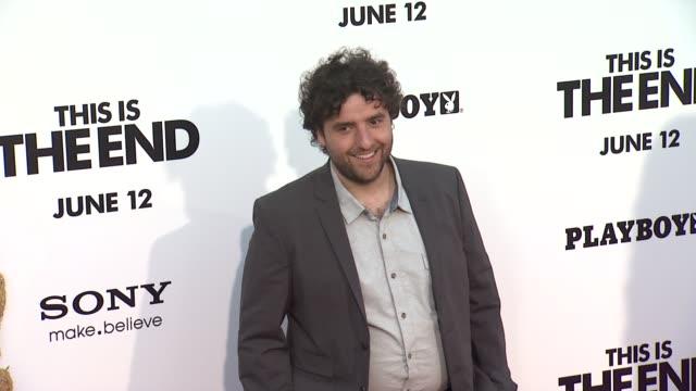David Krumholtz at This Is The End Los Angeles Premiere on 6/3/2013 in Westwood CA