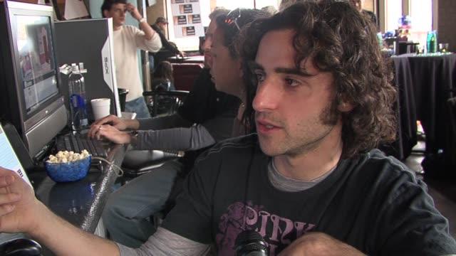 David Krumholtz on making a movie on the new program at the 2006 Sundance Film Festival Chrysler Studio in Park City Utah on January 20 2006