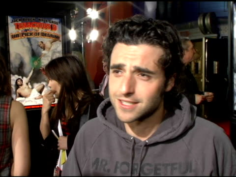 """David Krumholtz on """"The D"""" """"Bobby"""" and Numb3rs at the 'Tenacious D in The Pick of Destiny' LA Premiere arrivals at Grauman's Chinese Theatre in..."""