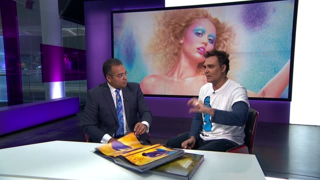 David LaChapelle interview on career and fears of apolcalyptic future ENGLAND London GIR INT David LaChapelle STUDIO interview SOT
